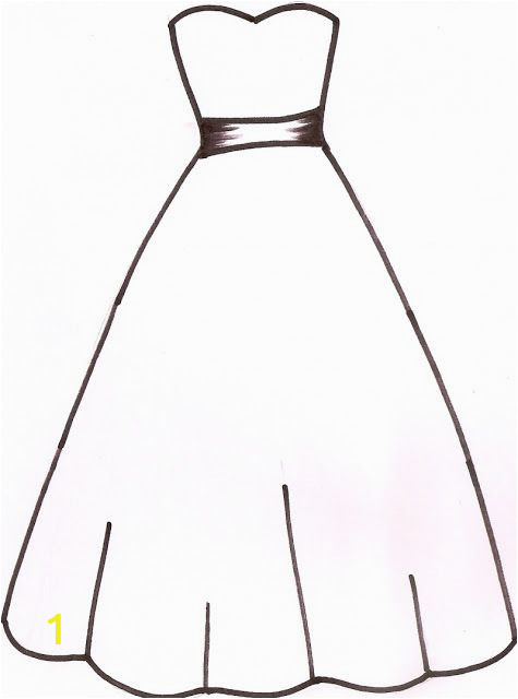 Wedding Dress Coloring Pages Printable Abbieeeeeeeeee My Dress Design Template