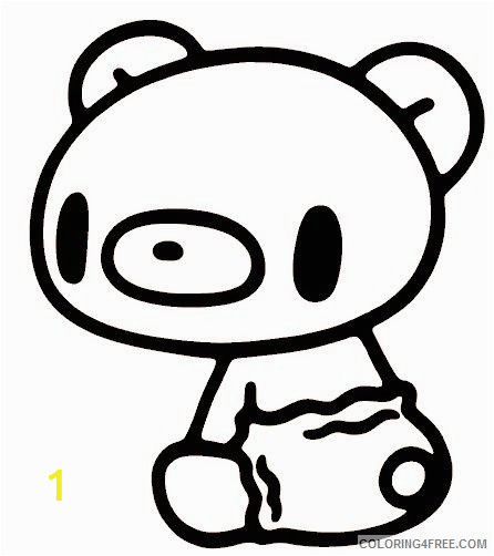 kawaii coloring pages teddy bear Coloring4free