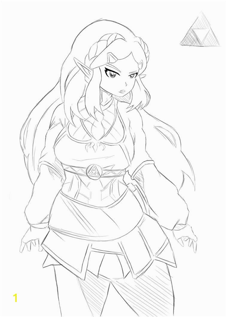 princess zelda drawing by selairy db2wbht pre