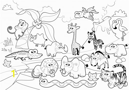 Zoo Animal Coloring Pages for Preschool Free Printable Zoo Animals Coloring Pages Zoo Animals