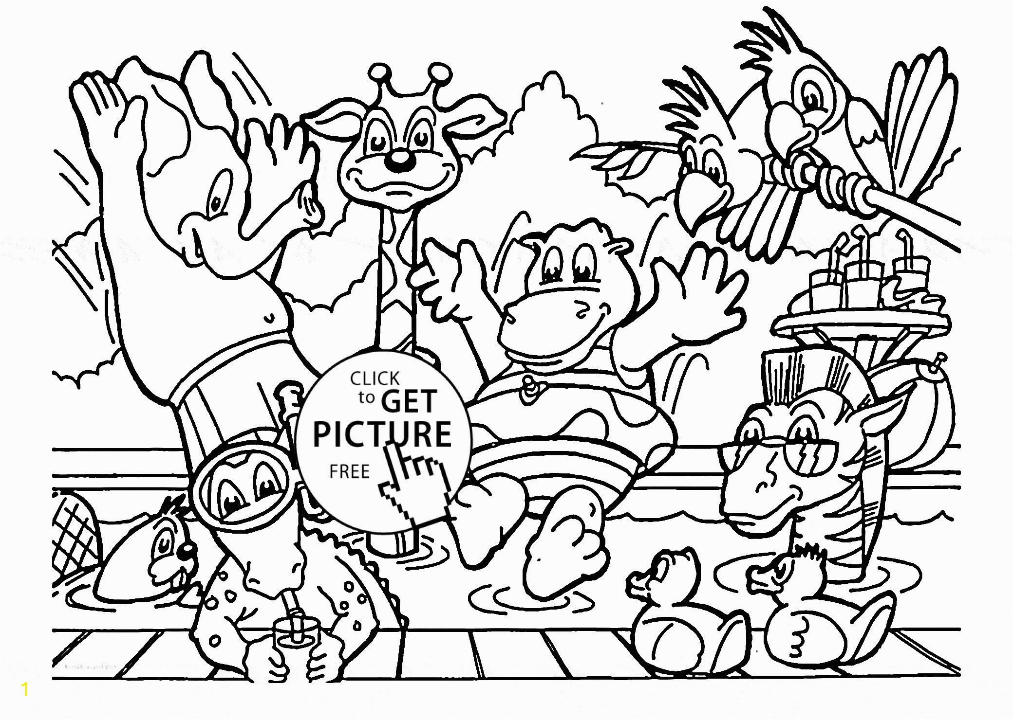 Zoo Animal Coloring Pages for Preschool Pin On Farm Animals Worksheets