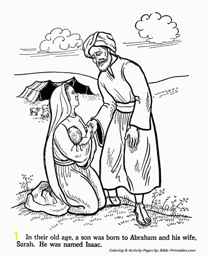 Abraham and Sarah Coloring Pages Sunday School Abraham and Sarah
