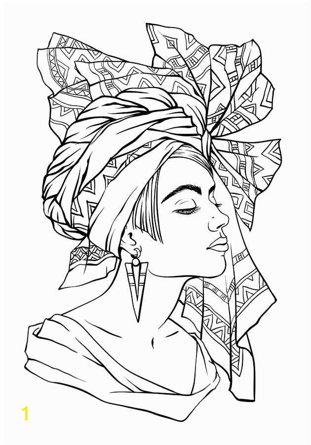 black women coloring pages
