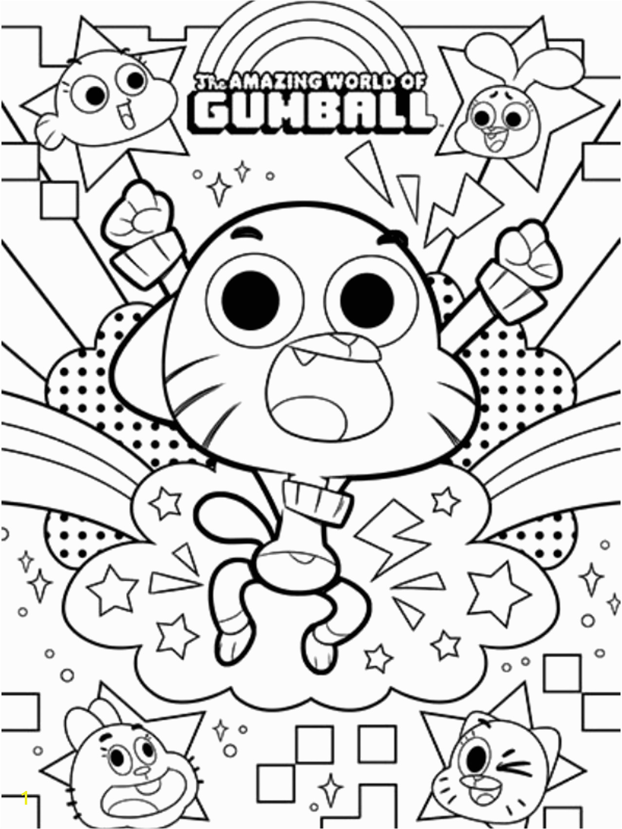 Amazing World Of Gumball Coloring Pages Printable the Amazing World Of Gumball Coloring Pages On