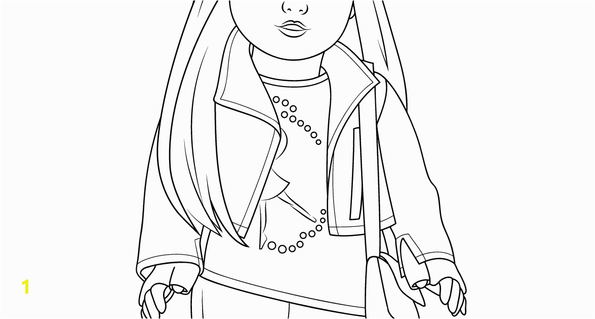 american girl isabelle doll coloring