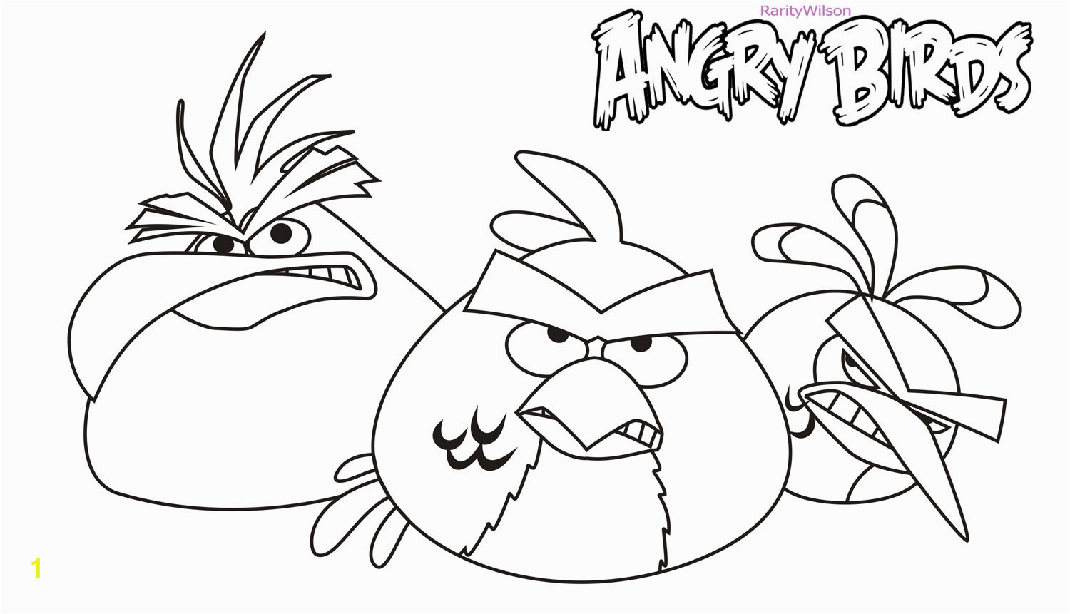 angry birds rio coloring pages