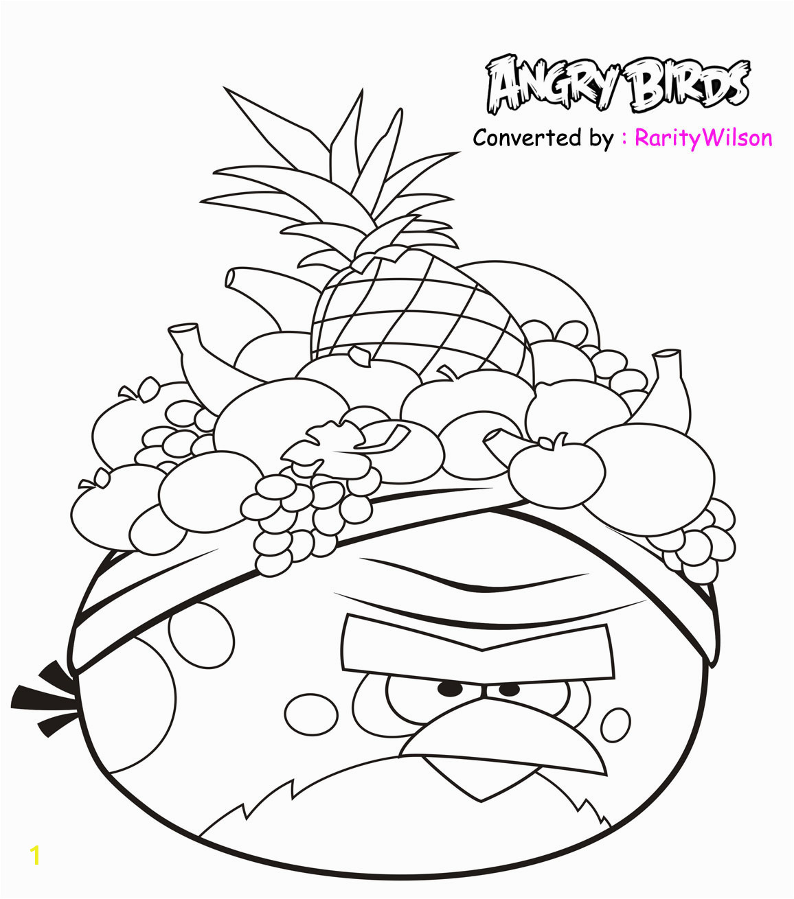 Angry Birds Rio Printable Coloring Pages Angry Birds Rio Coloring Pages