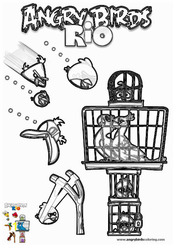 angry birds rio for coloring 19