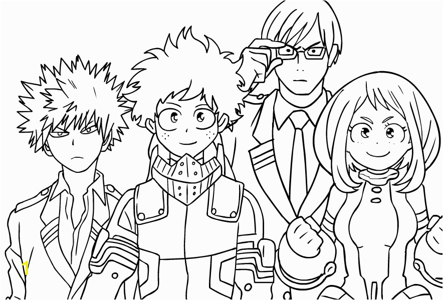 my hero academia coloring pages