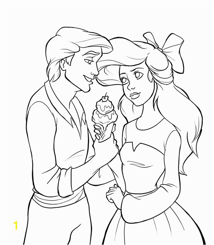 ariel as a human coloring pages sketch templates
