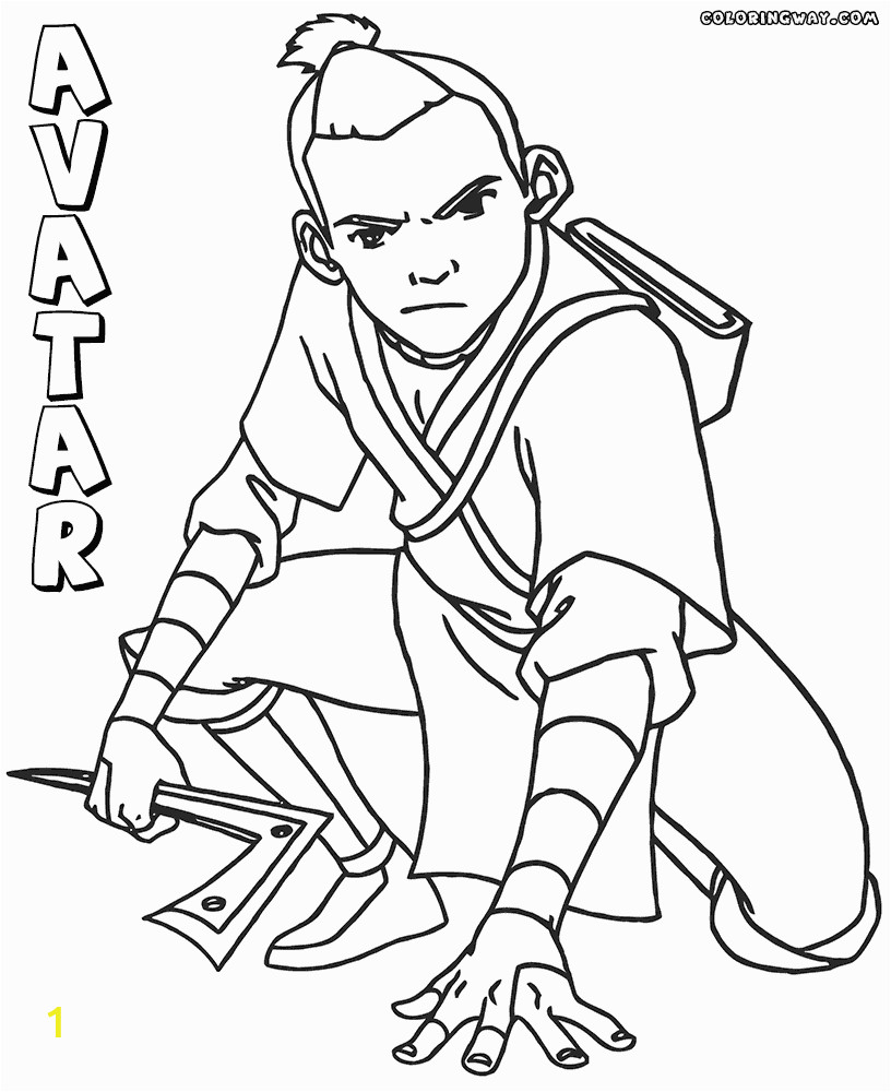 avatar last airbender coloring pages