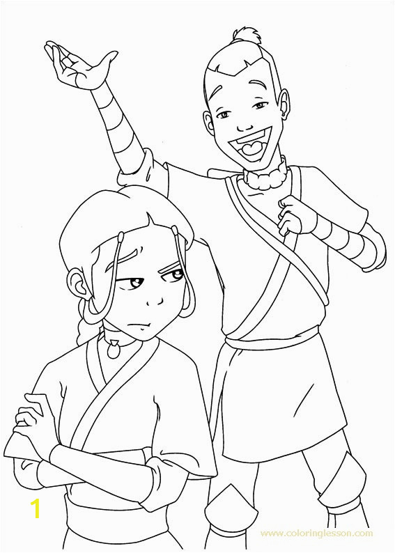 avatar the last airbender coloring lesson kids coloring page