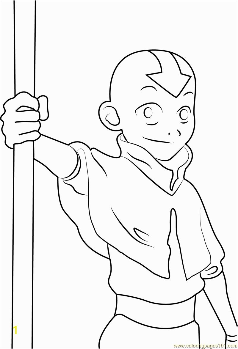 cute aang coloring page