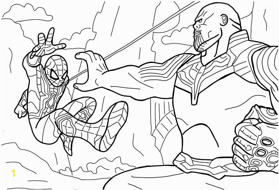 spiderman vs thanos