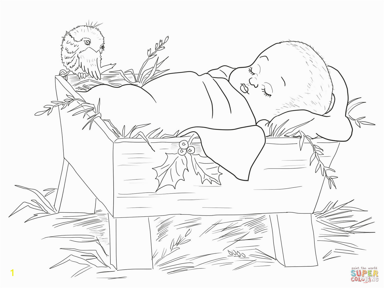 Baby Jesus In the Manger Coloring Page Baby Jesus In A Manger Coloring Page