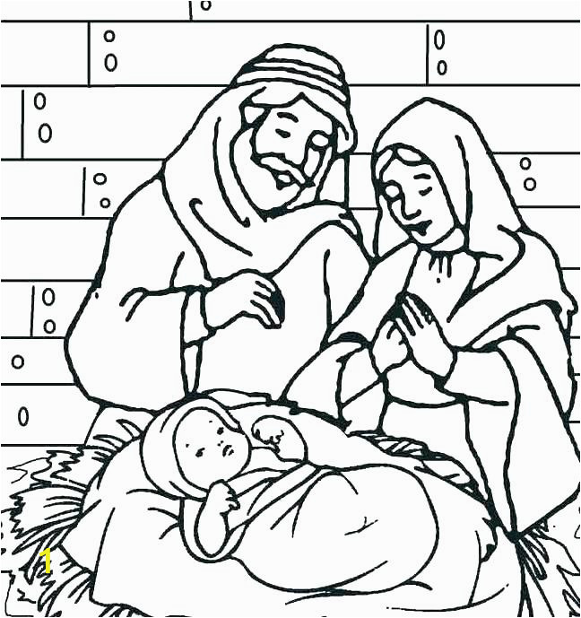 baby jesus in a manger coloring pages