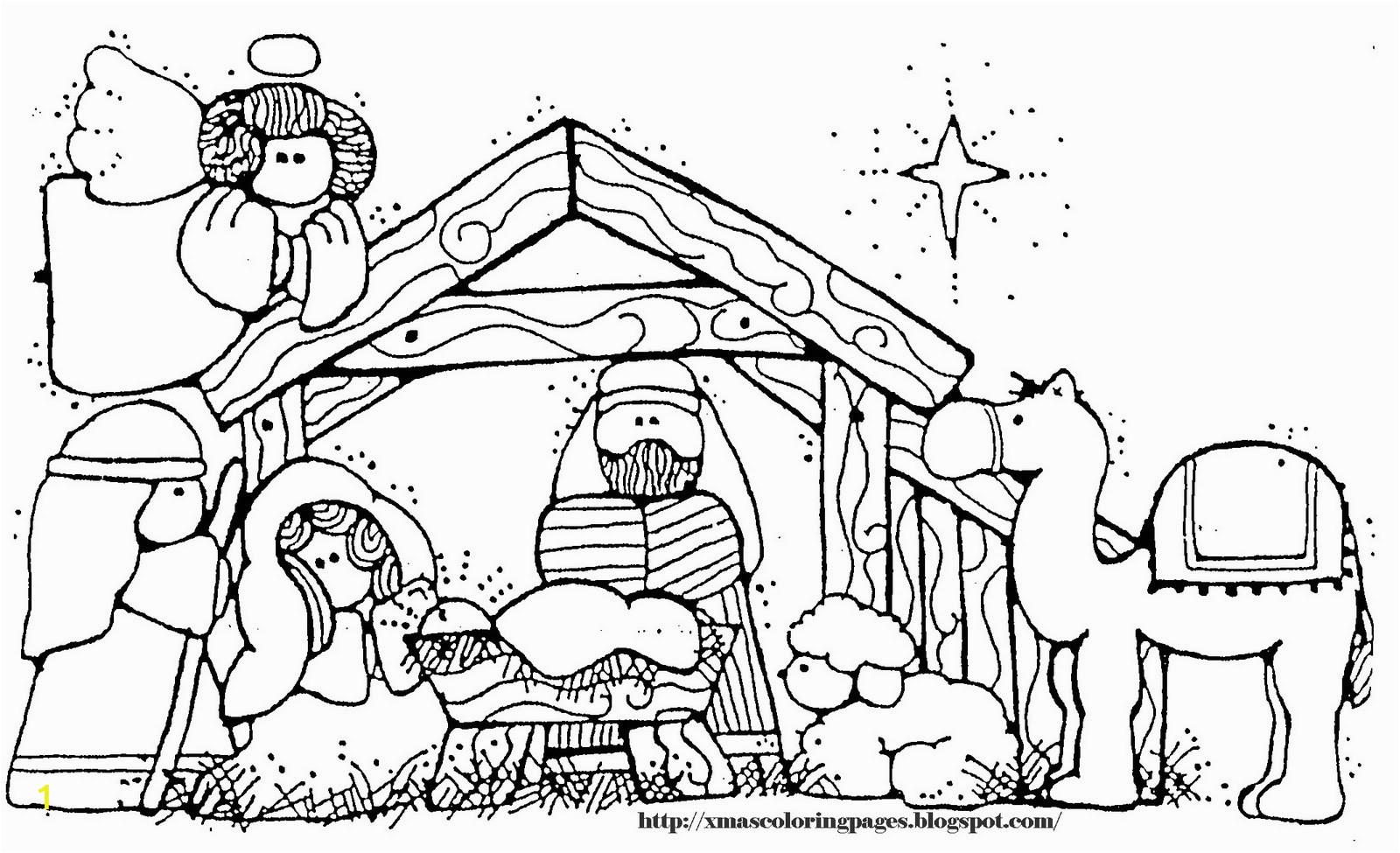 jesus manger drawing