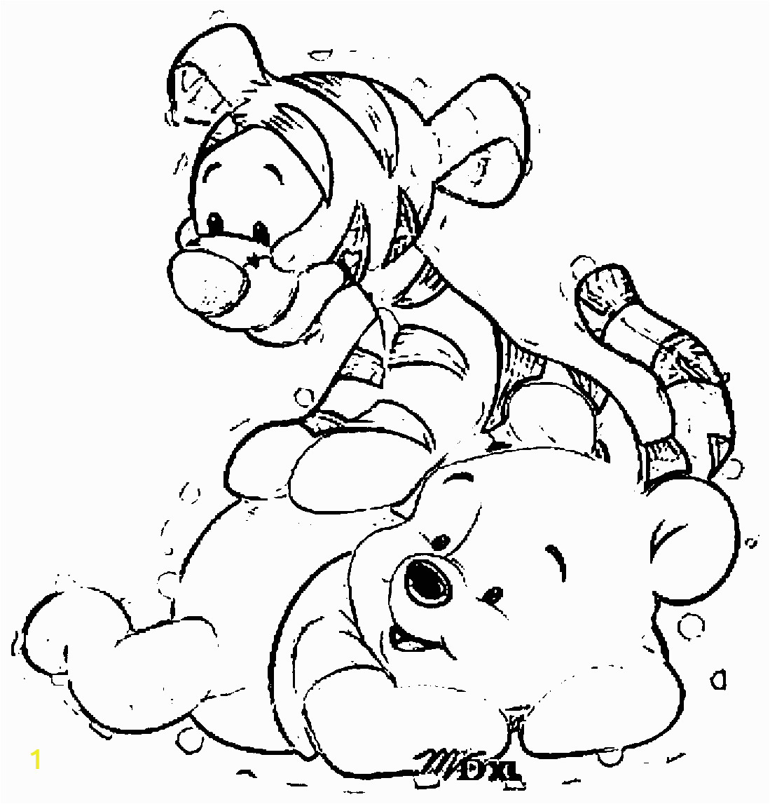 Baby Winnie the Pooh and Tigger Coloring Pages Tigger and Pooh Coloring Page Coloring Home