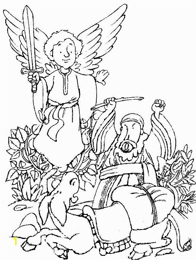 balaam and his donkey coloring
