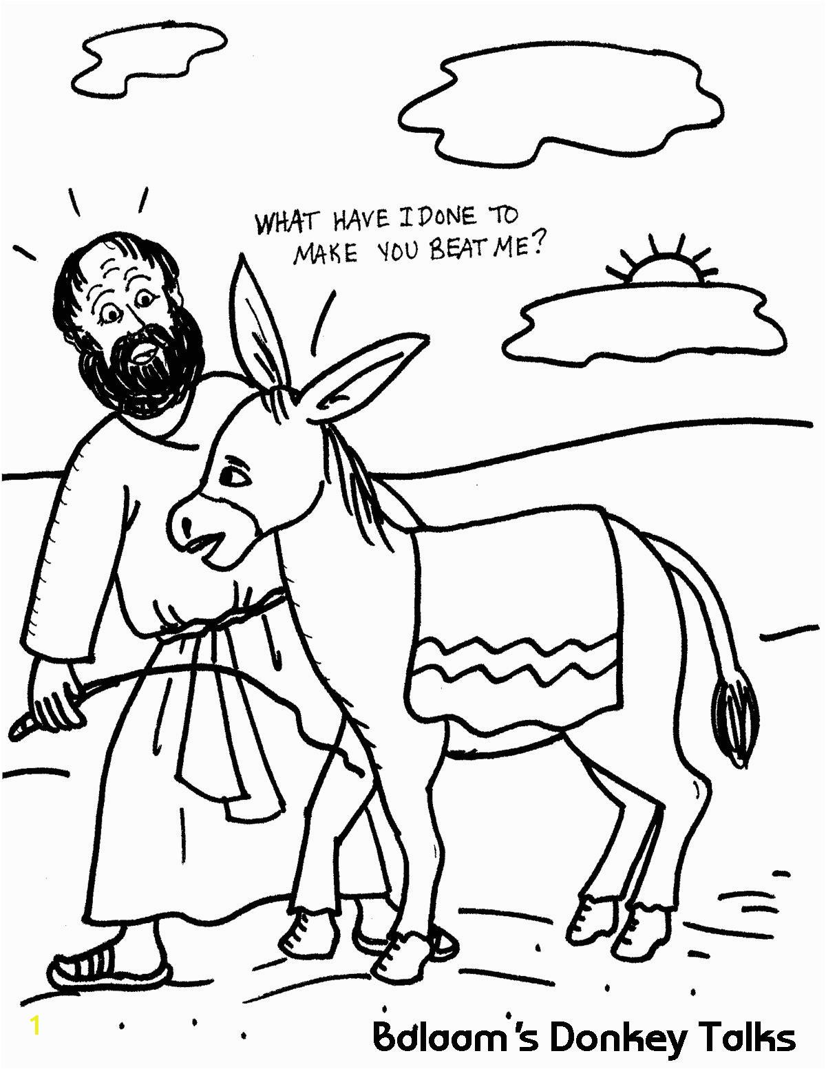 balaams donkey talks coloring sheet