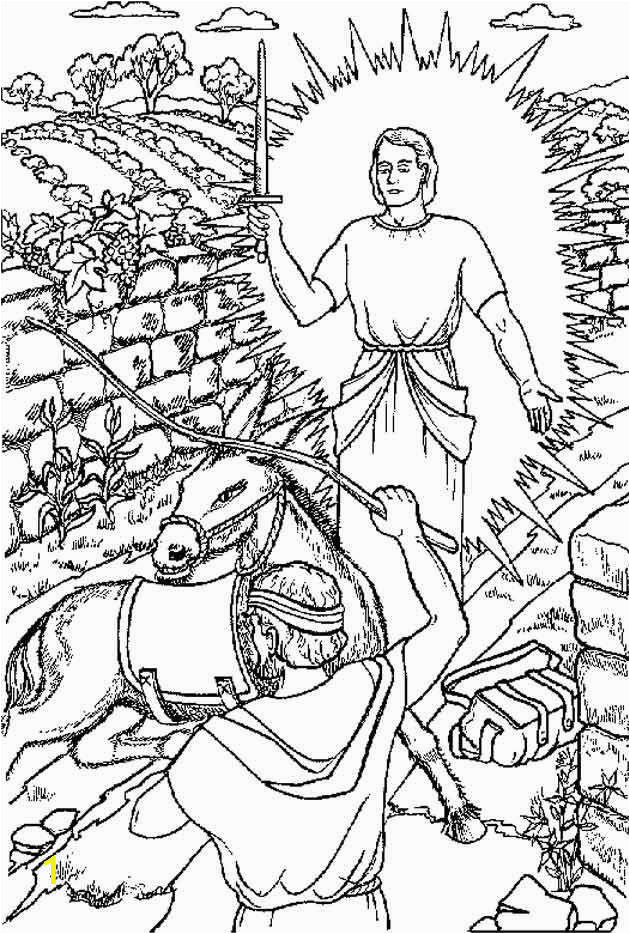balaam and his donkey coloring page