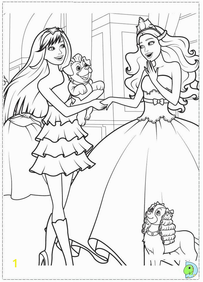 008 coloringBarbie princessPopstar 09