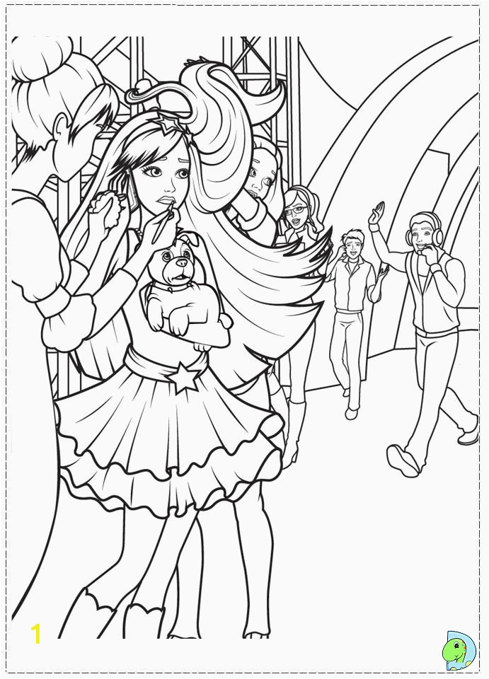 the princess and the popstar coloring pages