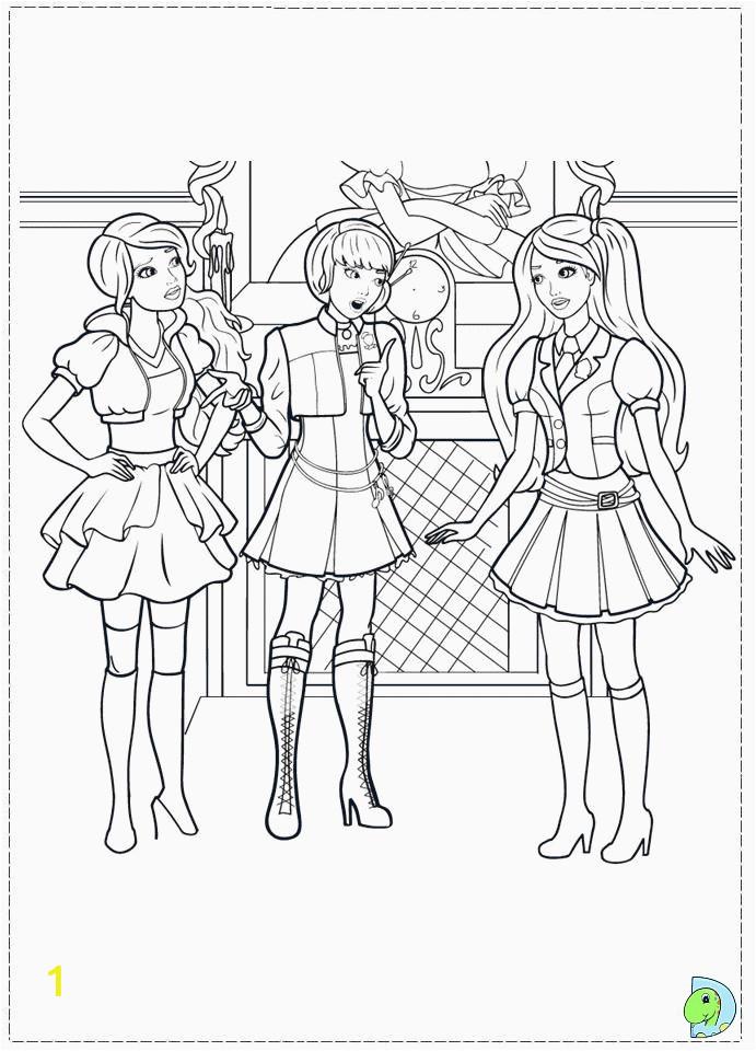 Barbie Coloring Pages Princess Charm School Barbie Princess Charm School Coloring Page Coloring Home