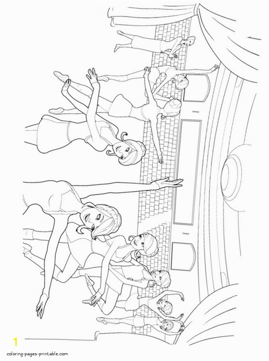 barbie pink shoes coloring pages 12