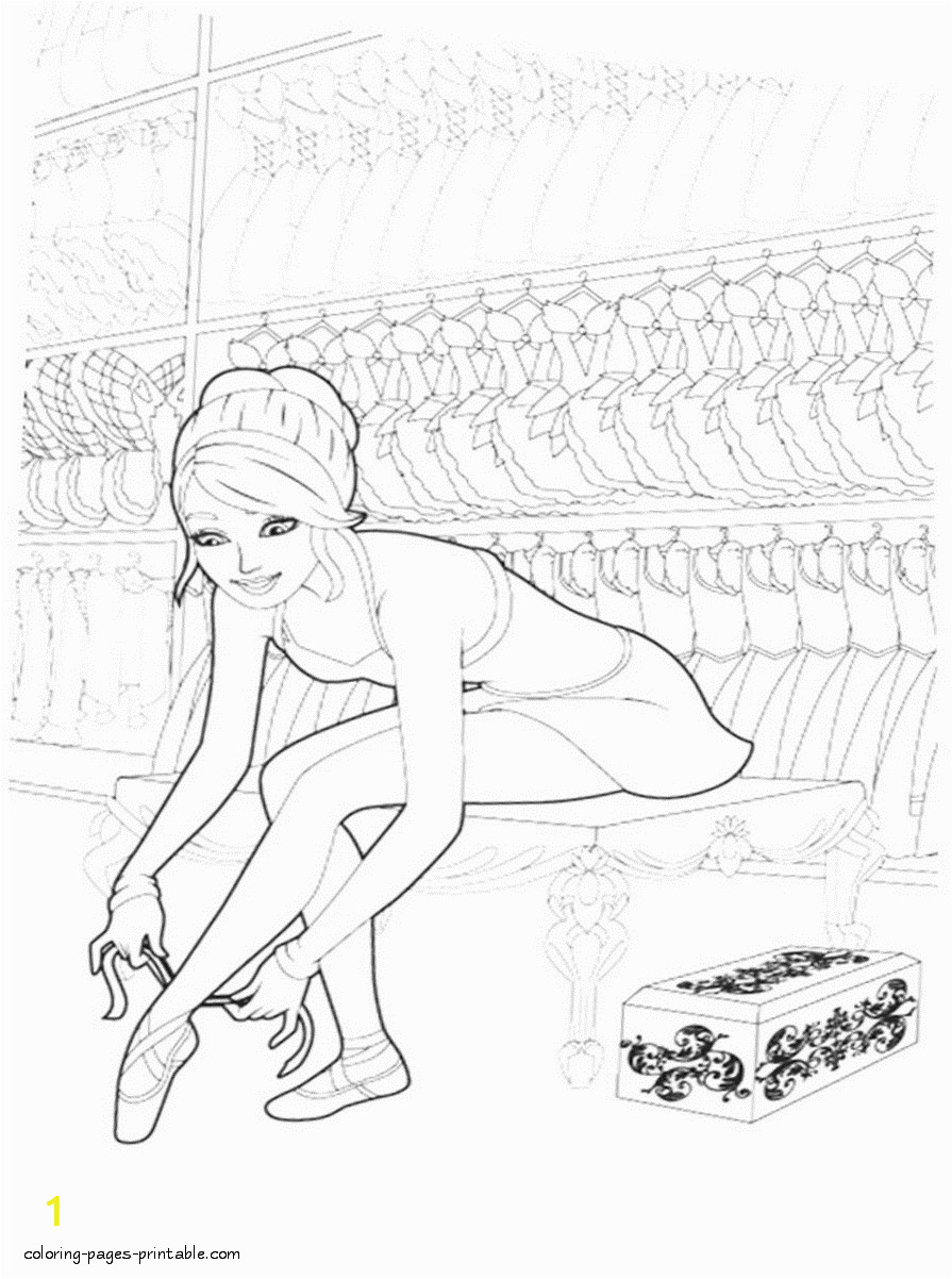 barbie pink shoes coloring pages 15