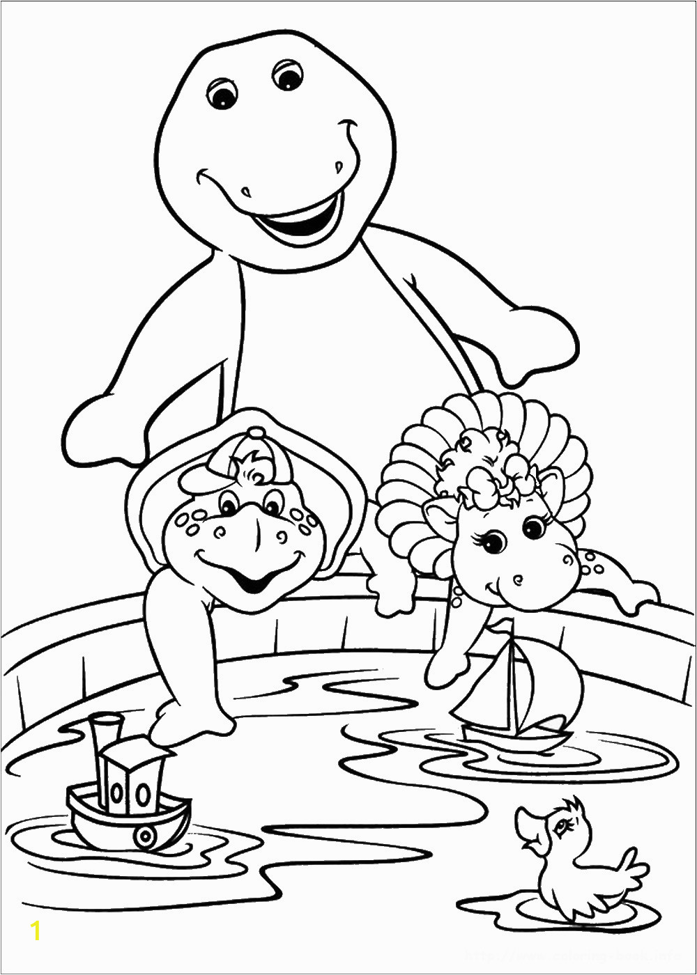 barnie coloring pages