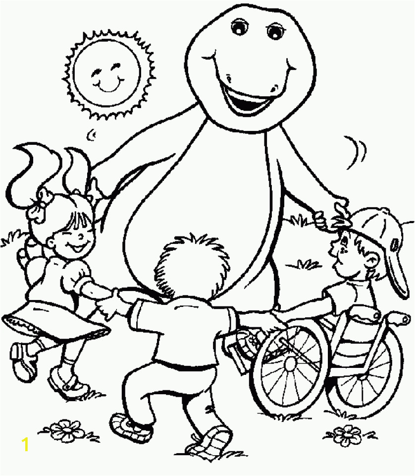 barney and friends coloring pages free to print