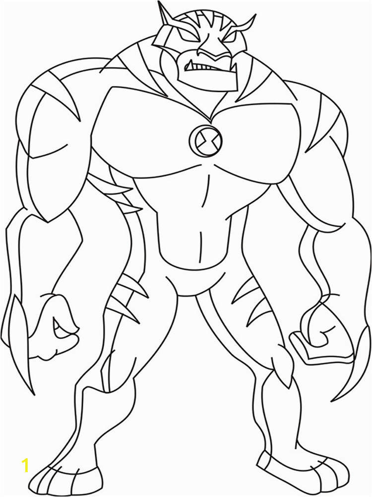 ben 10 ultimate alien coloring pages