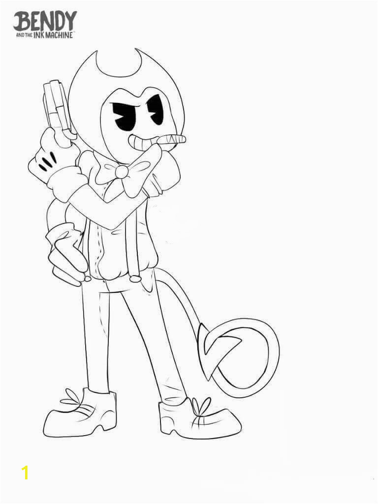 Bendy and the Ink Machine Coloring Pages Free Printable Bendy and the Ink Machine Coloring Pages