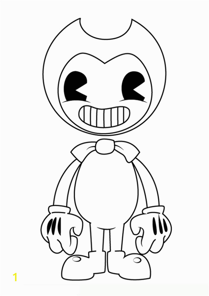 bendy and the ink machine coloring for kids