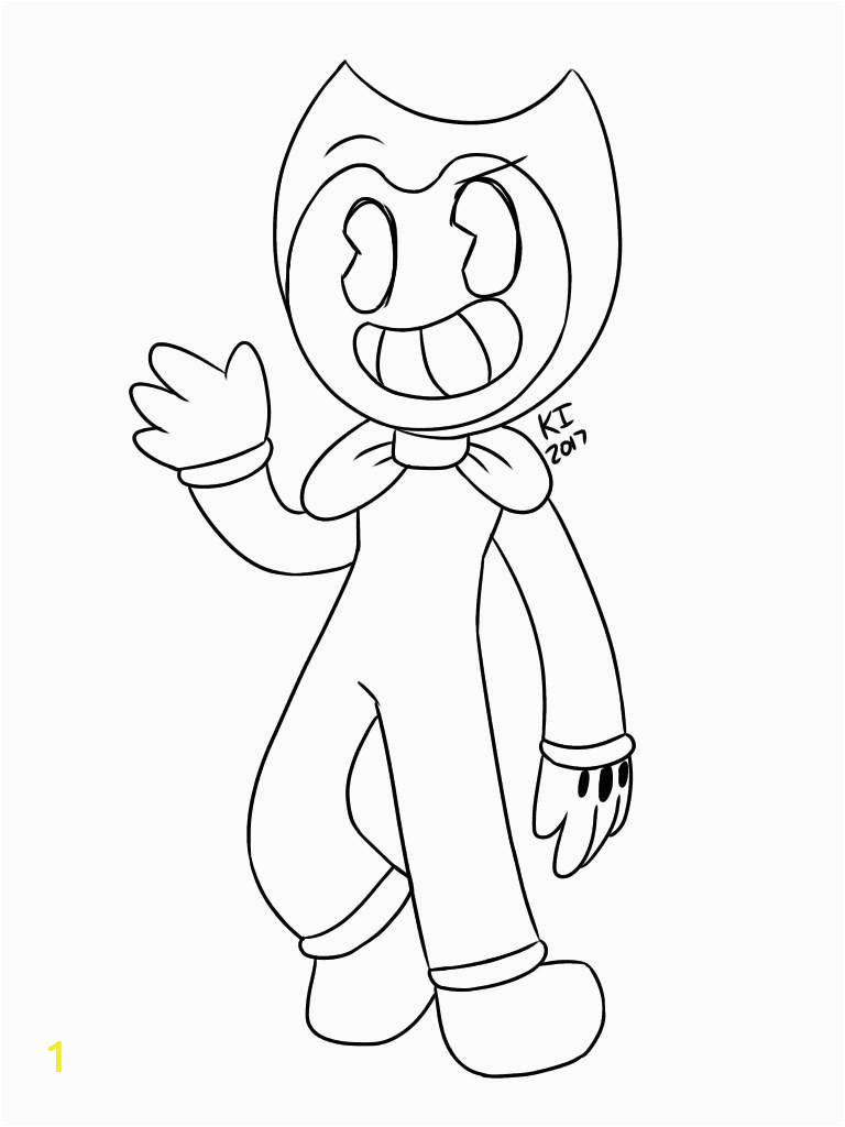 print and coloring page the ink machine bendy sketch templates