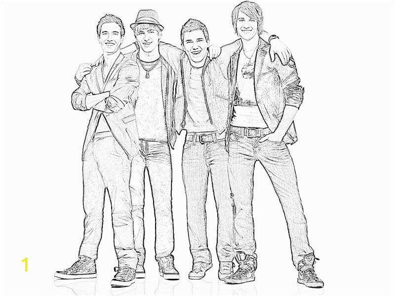 big time rush coloring pages for print