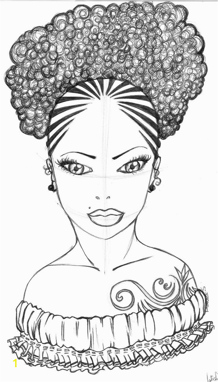 coloring pages black girls