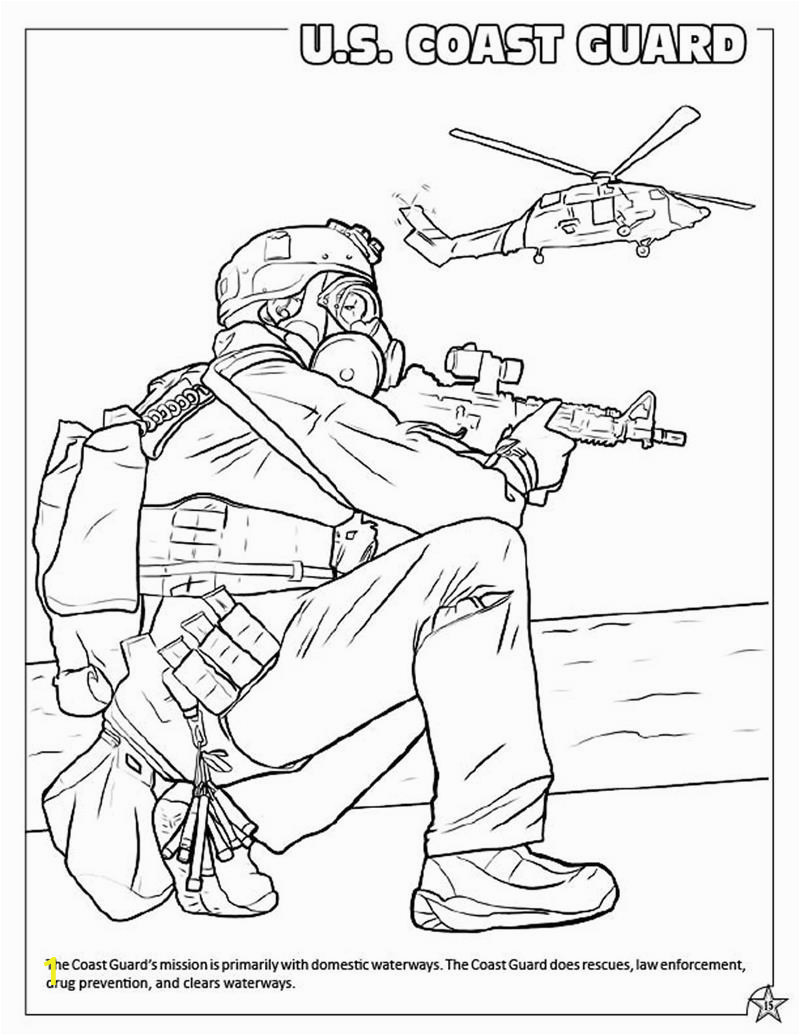 military armed forces coloring book