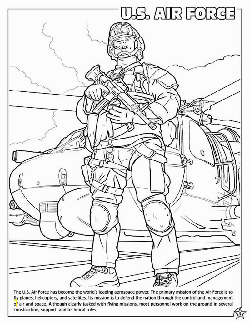 armed forces coloring book