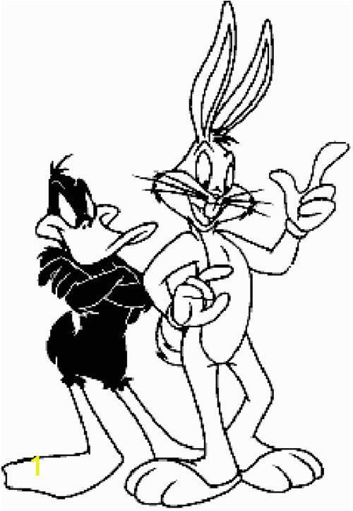 bugs bunny and daffy duck coloring