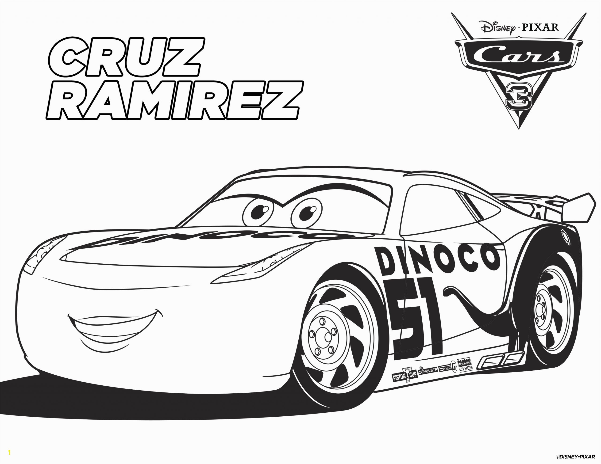 disney cars free printable coloring pages