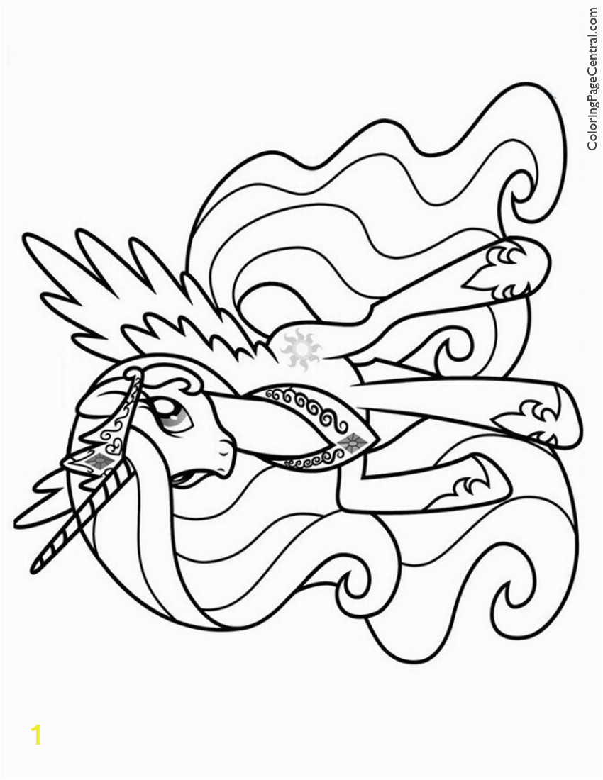 Celestia My Little Pony Coloring Pages My Little Pony – Princess Celestia 02 Coloring Page