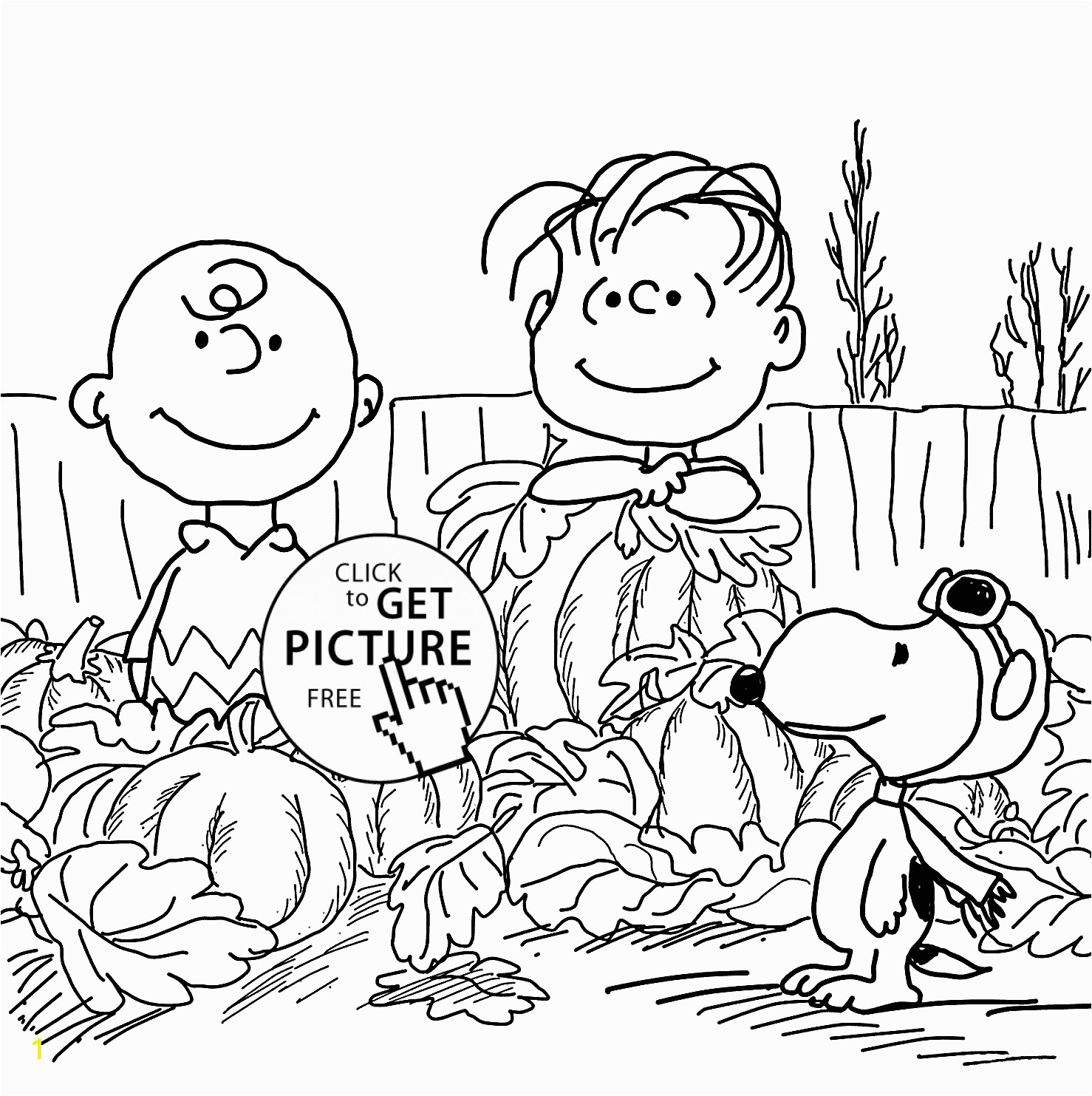happy charlie brown and pumpkins coloring pages for kids printable free cartoons