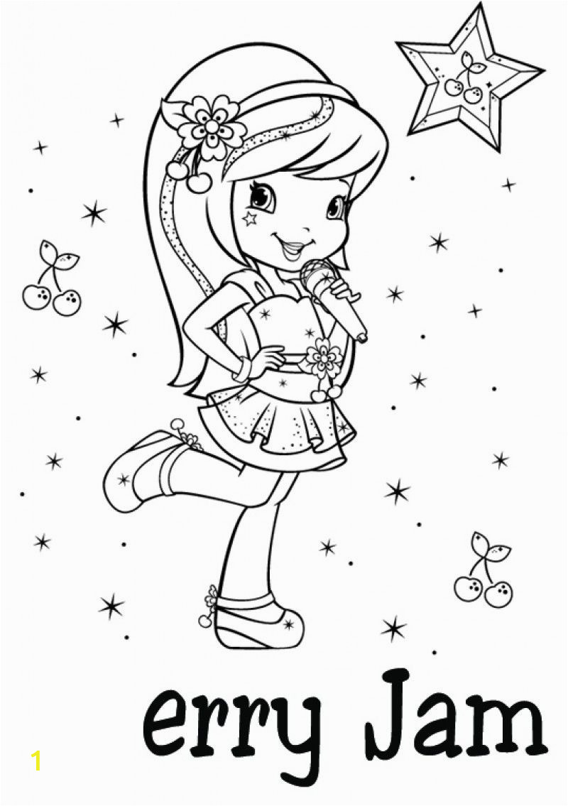 Cherry Jam Strawberry Shortcake Coloring Pages Cherry Jam
