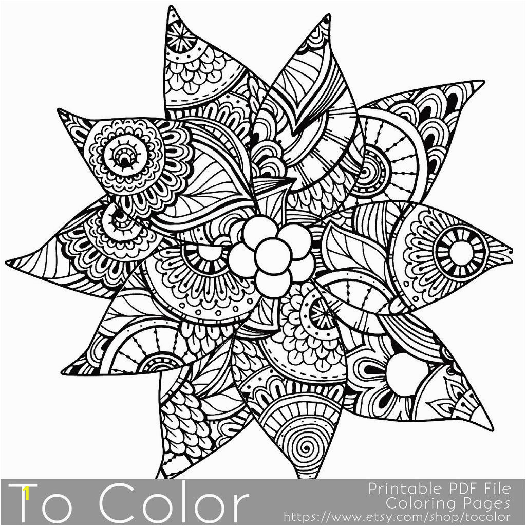 Christmas Coloring Pages for Grown Ups Holiday Christmas Detailed Poinsettia Coloring Page for
