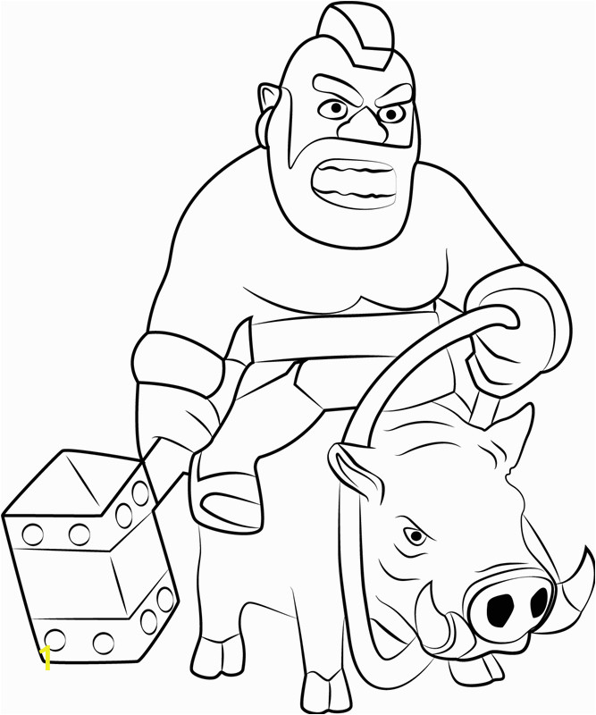 Hog Rider Riding Boar