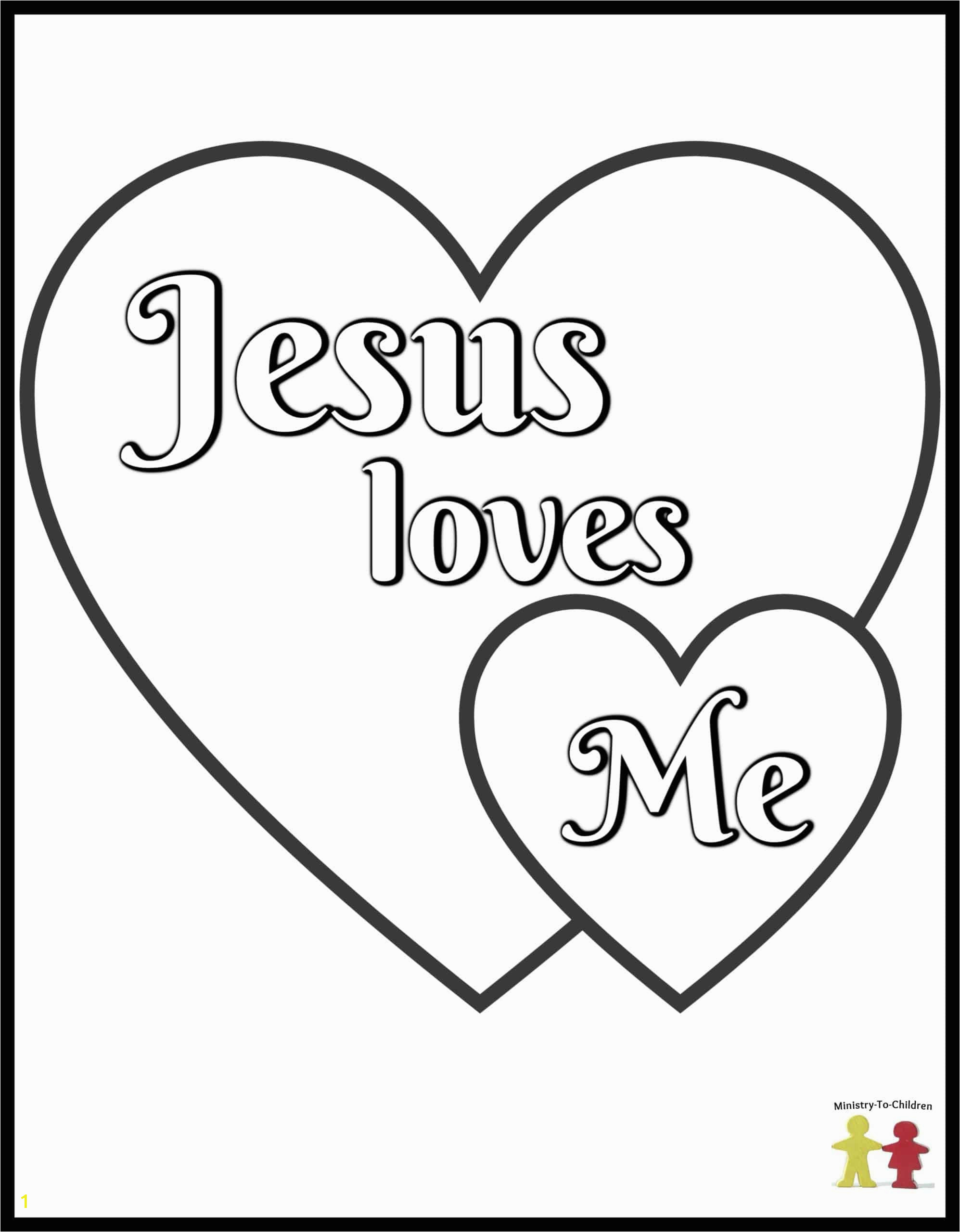 Coloring Pages for Jesus Loves Me Preschool Coloring Pages Easy Pdf Printables Ministry to