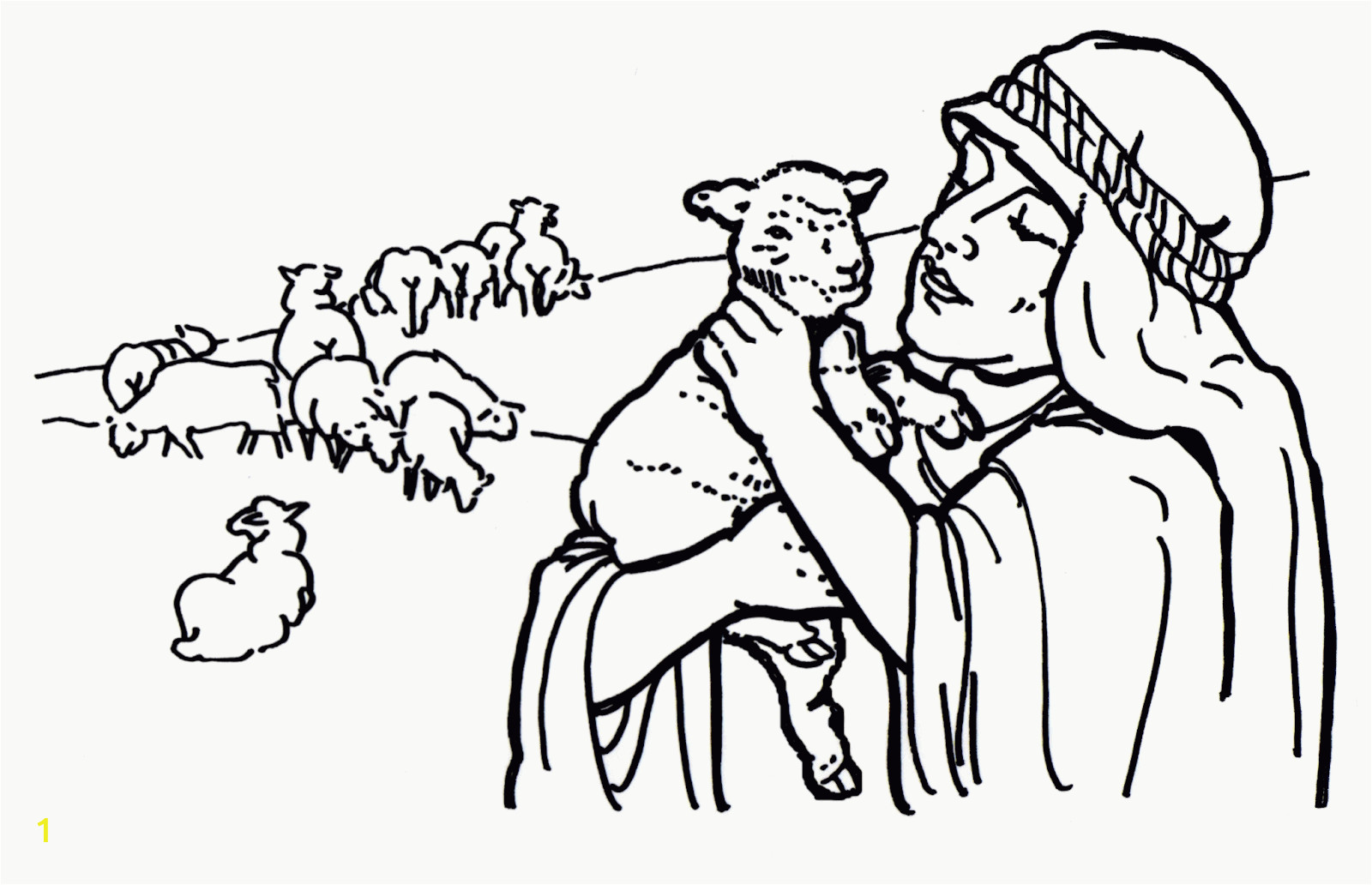 parable of lost sheep coloring pages