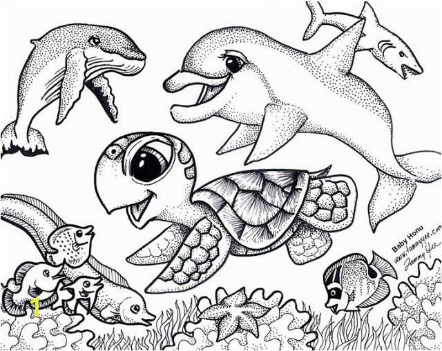 baby sea animals coloring pages to